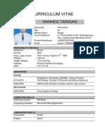 CV Hannes Tarigan Jobstreet