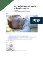 Cómo Enseñar a Un Bebé a Dormir Toda La Noche