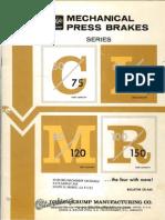 Chicago Dries and Krump Model c,l,m,r Press Brake Brochure