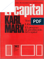 El Capital (Tomo I, Volumen I), Karl Marx