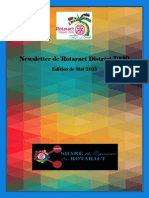 District Newsletter May 2015 (French)