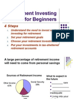 how invest retire savings handout