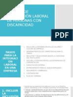 Modelo de Integración Laboral de Personas Con Discapacidad