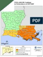 FEMA - Louisiana Disaster Declaration by Parish