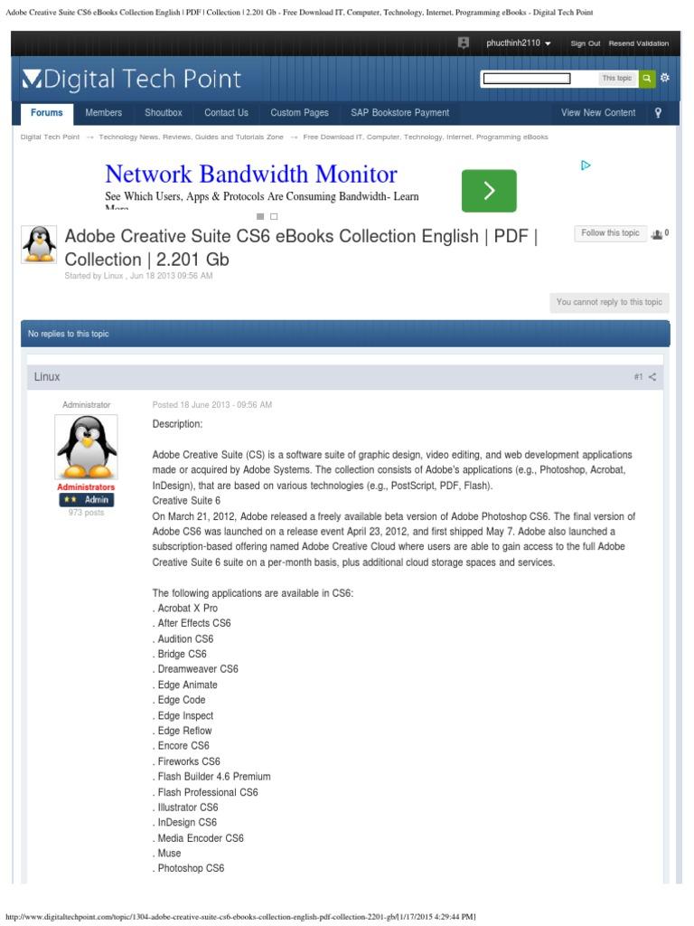 Adobe Creative Suite CS6 eBooks Collection English _ PDF _ Collection _  2.20 | Adobe Creative Suite | Adobe Systems