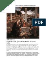 Adoración de los pastores, de Domenico Ghirlandaio