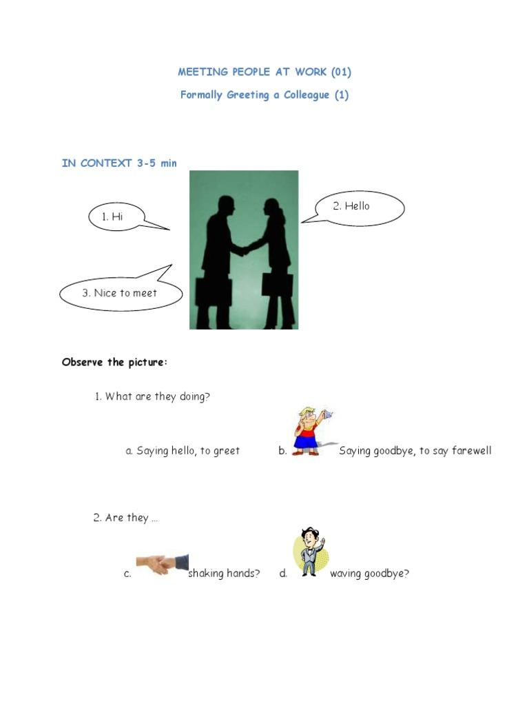 01 business english meeting people at work 01 formal greeting 01 business english meeting people at work 01 formal greeting pdf semiotics languages m4hsunfo