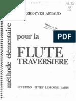 Méthode Élémentaire Pour La Flute Traversiere