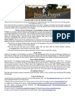 Jumaa Prayer Bulletin May 15, 2015