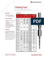 Mechanical Setting Tool Product Datasheet