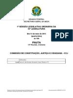 K Comissao Permanente CCJ Pauta 20150513ORD010