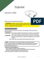 Projector Manual 3944