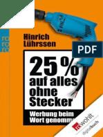 25 Prozent Auf Alles Ohne Steck - Hinrich Luhrssen