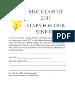 MLC - Stars for Our Seniors Flyer