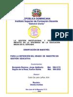 Tesis Gestion Instituciona y Pedagogic A Con Presentacion Datos