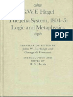 G. W. F. Hegel Edited by John W. Burbidge and George Di Giovanni-The Jena System 1804-05 Logic and Metaphysics (Mcgill-Queen s Studies in the History