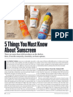 5 Things You Must Know About Sunscreen