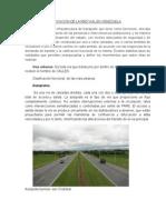 Clasificacion de La Red Vial en Venezuela Informe.