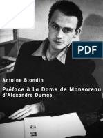 Blondin, Antoine - Préface à La Dame de Monsoreau d'Alexandre Dumas (1962)