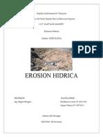 Erosion Hidrica TRABAJO