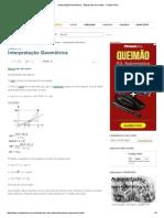 Interpretação Geométrica - Estudo Das Derivadas - Colégio Web