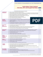 QM Standards With Point Values Fifth Edition