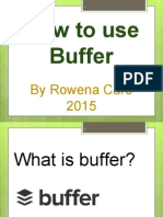 Tutorial on How to Use Buffer