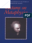 Lectures on Metaphysics, I. Kant (Cambridge, 1997)