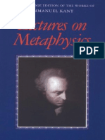 Lectures on Metaphysics, I. Kant (Cambridge, 1997)