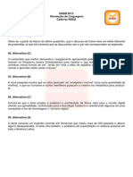 Resolução Linguagens - Enem 2013