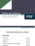 Diseño de Sistemas - Unidad I - Especificación Requerimientos Software