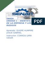 Identificación de La Empresa y Los Riesgos