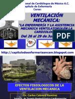 Efectos Fisiologicos de La Ventilacion Mecanica Dr Cabrera