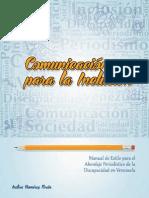 Comunicación para la Inclusión_Manual de Estilo para el Abordaje Periodístico de la Discapacidad
