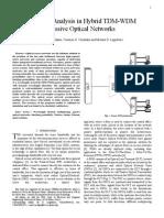 Blocking Analysis in Hybrid TDM-WDM Passive Optical Networks