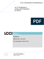Business Administration Syllabus
