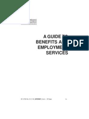 EDD Handbook | Unemployment Benefits | Employment
