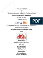 ING-Vysya Summer Training Report
