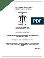 Expediente Visual 1 (Atención Educativa de Alumnos con D.V) PRIMER ENTREGA DE EXPEDIENTE, 2DO PARCIAL, 2DO SEMESTRE