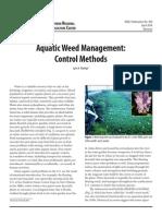 Aquatic Weed Management Control Methods