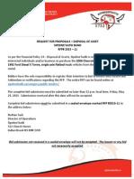Rfp 2015 11 Disposal of Asset May 2015