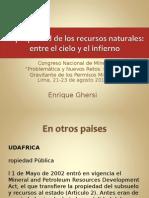 2DO La Propiedad Del Subsuelo-Congreso Nacional de Minería-GHERSI