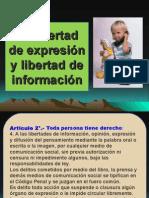 La Libertad de Expresión y Libertad de Información