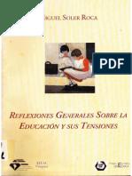 Reflexiones generales sobre la educación y sus tensiones