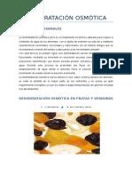 Dehidratación Osmótica en Frutas