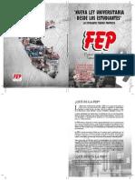 Proyecto de Nueva Ley Universitaria FEP 2014