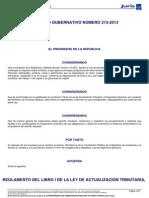 Acuerdo Gubernativo 213-2013 Nuvo Reglamento Del Isr