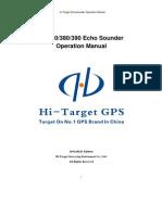 Echosounder Series HD370 380 390 Manual
