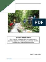 Estudio Hidrologico Lucmapata-Belempata
