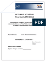 Internship Report on Allied Bank of Pakistan